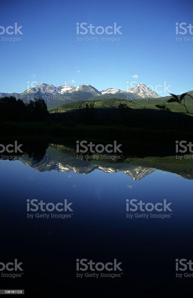 Wedge Mountain Reflection royalty-free stock photo