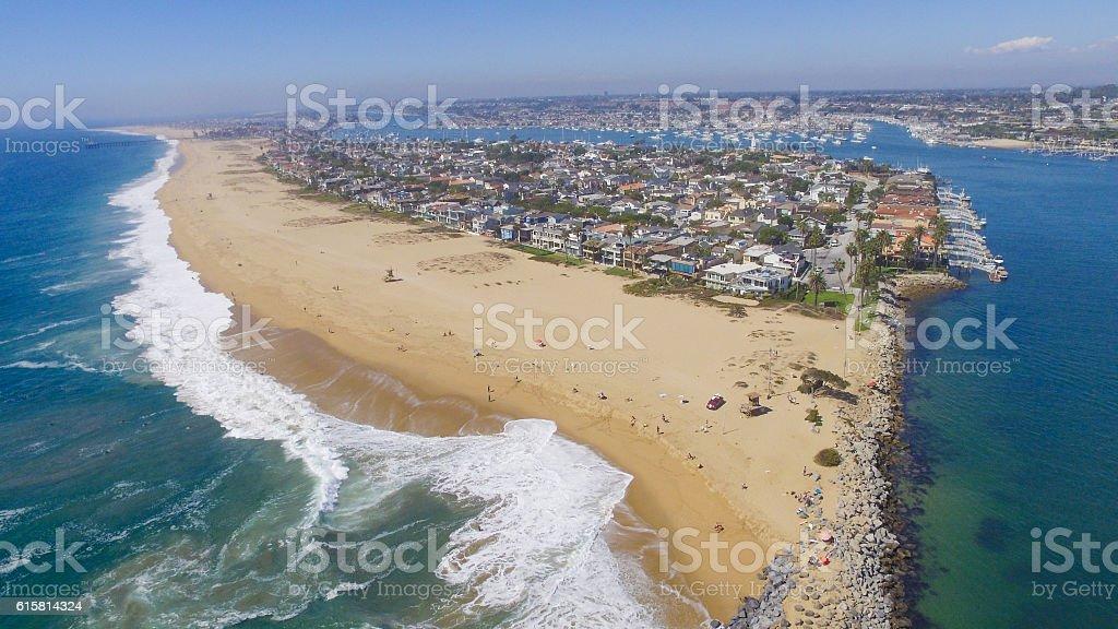 Wedge Newport Beach stock photo