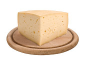 istock A wedge of cheese on a wooden platter 187188253