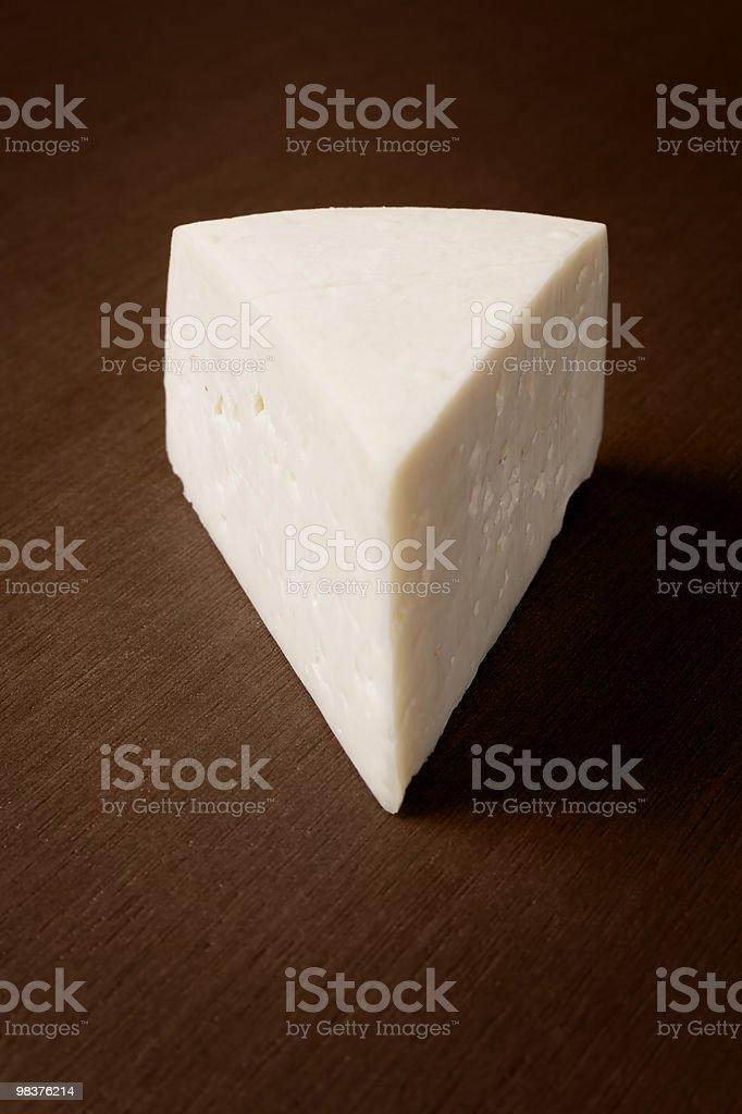 Zeppa di formaggio di capra dall'alto foto stock royalty-free