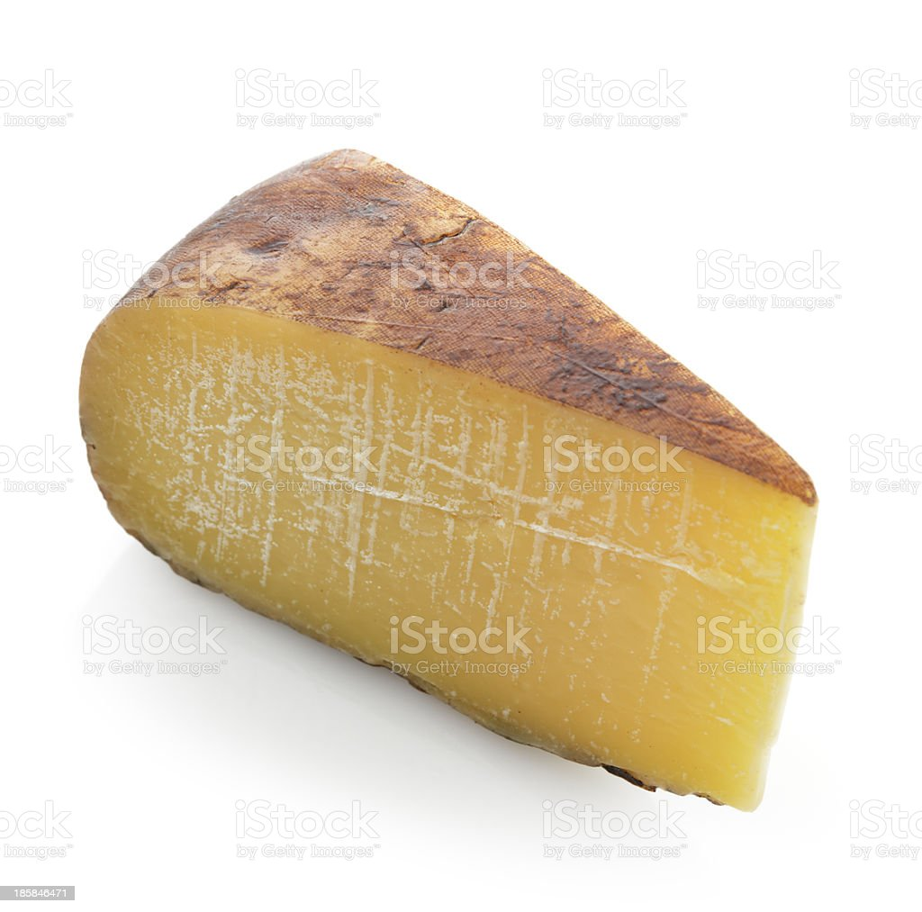 Wedge of Hard Cheese stock photo