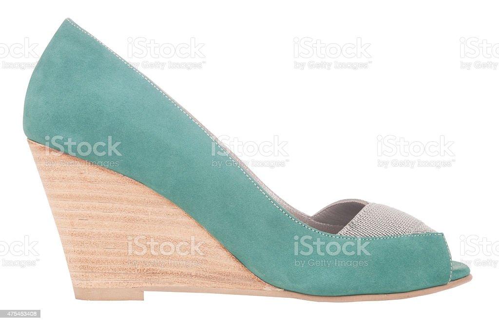 wedge style woman shoe stock photo
