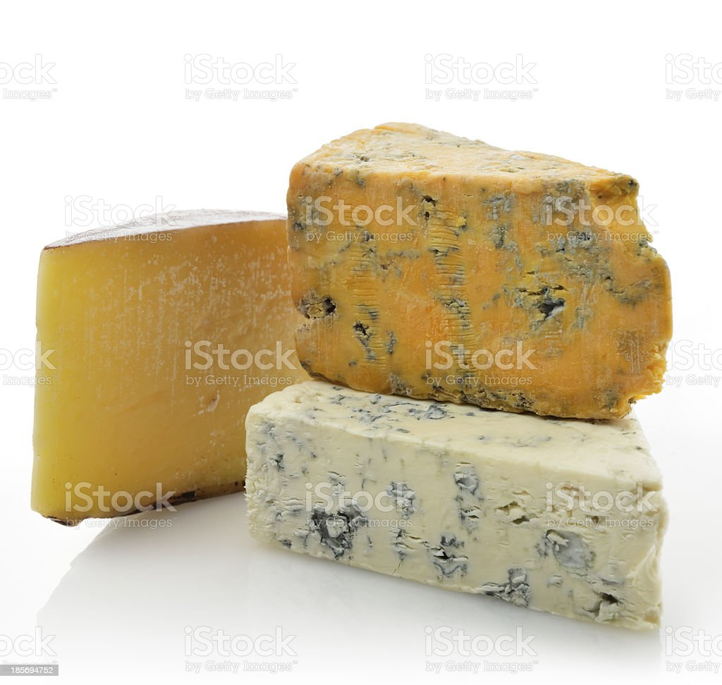 Wedges of Gourmet Cheese stock photo
