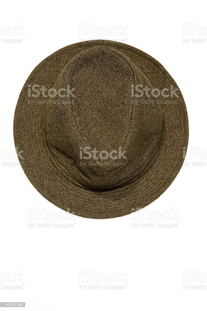 weed fisherman's hat, close up stock photo