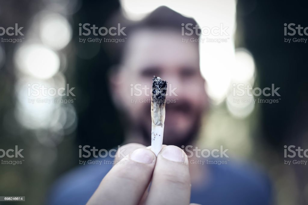 Weed joint stock photo