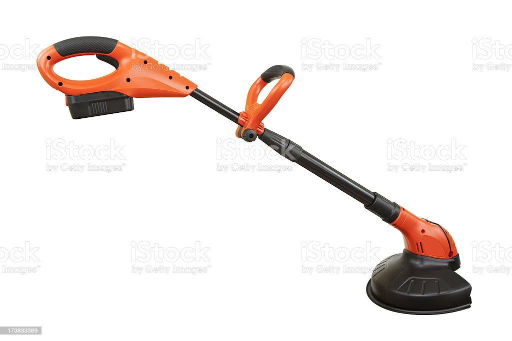 Weed Trimmer Isolated with Path stock photo
