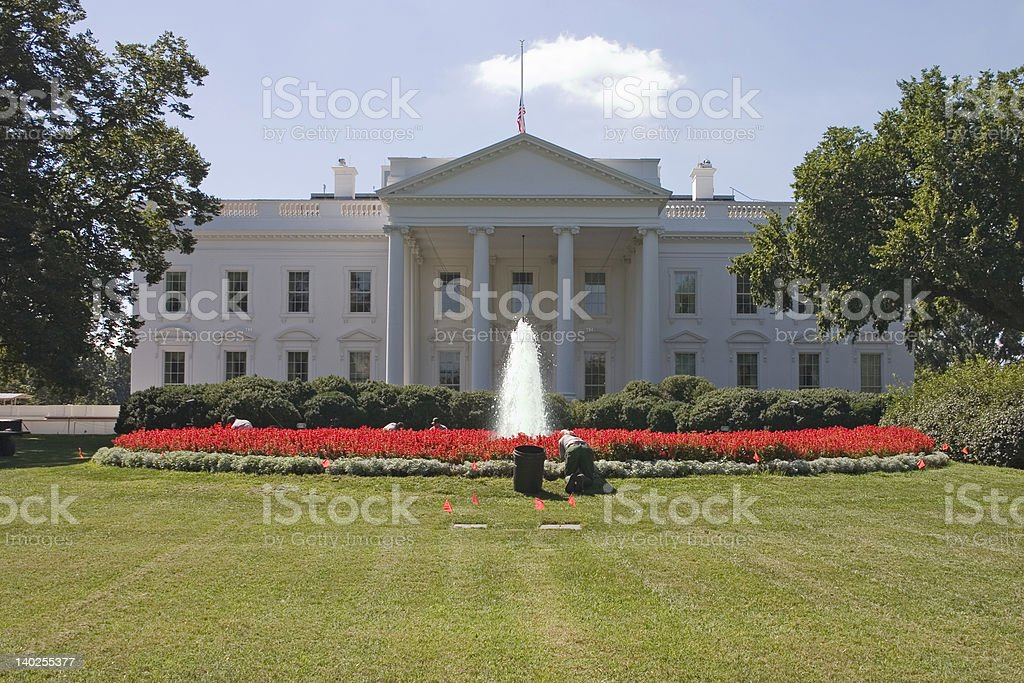 Weeding at the White House royalty-free stock photo