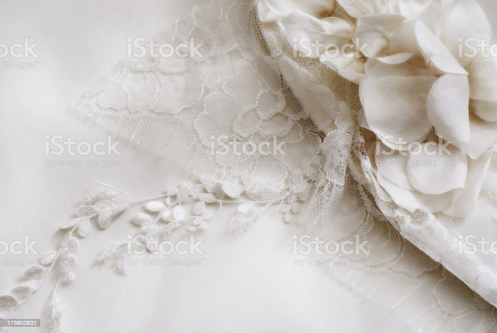 Weedingdress detail royalty-free stock photo