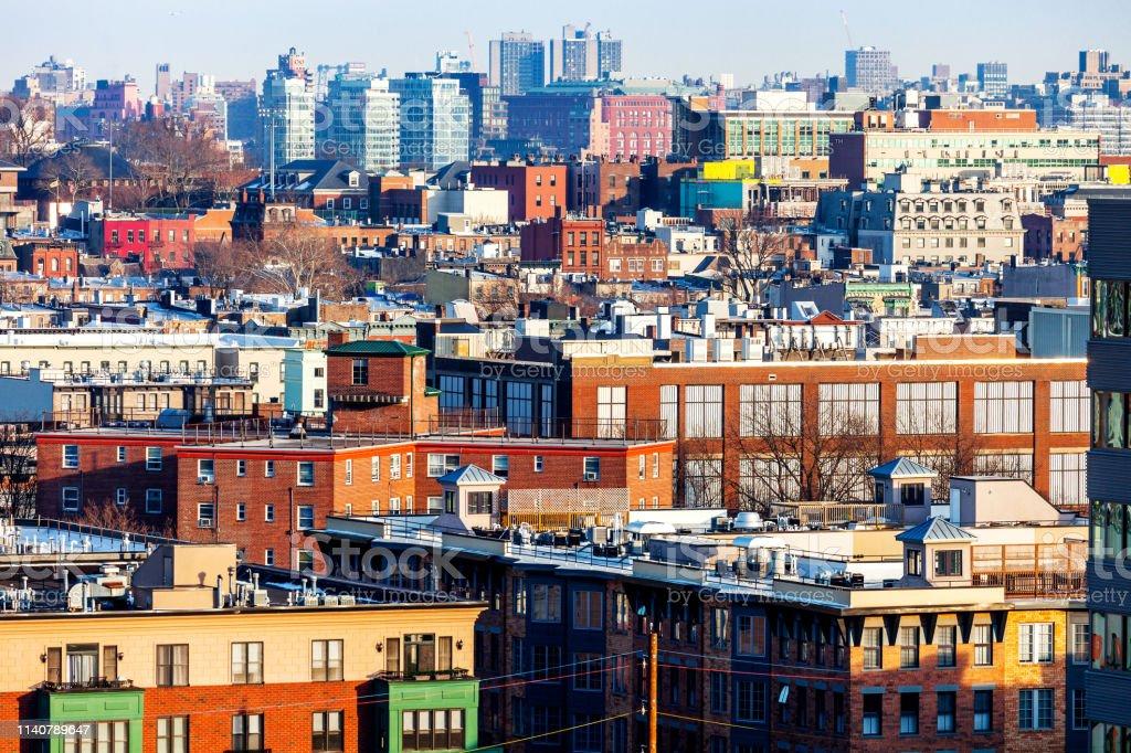 Weehawken NJ and New York NY stock photo