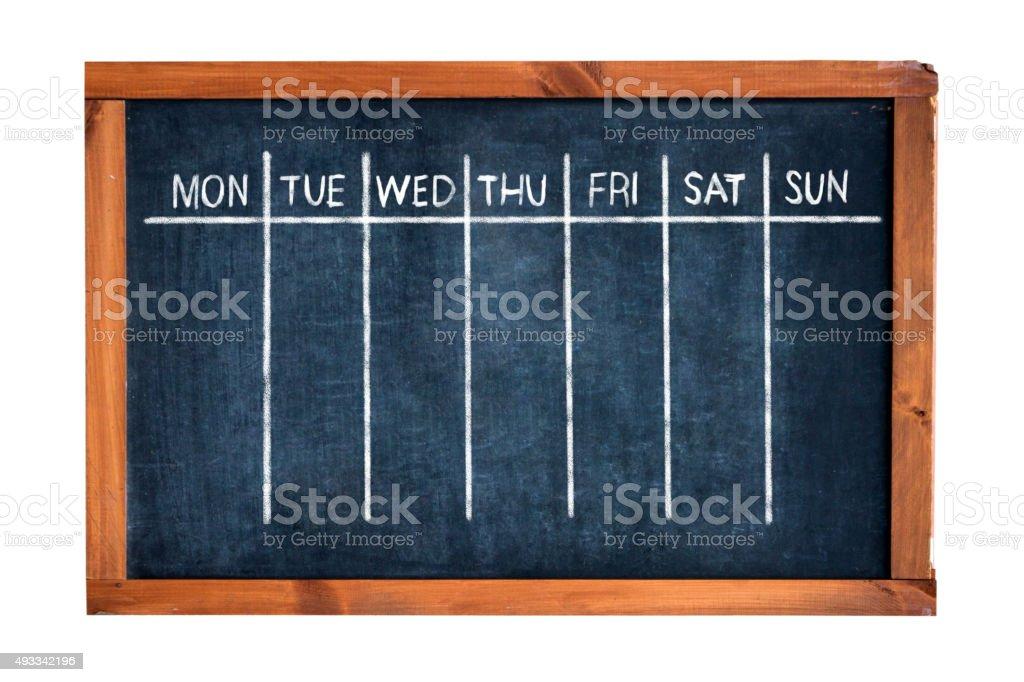 Week Schedule stock photo
