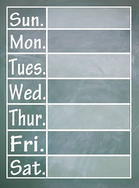 woche tisch - sprüche kalender stock-fotos und bilder