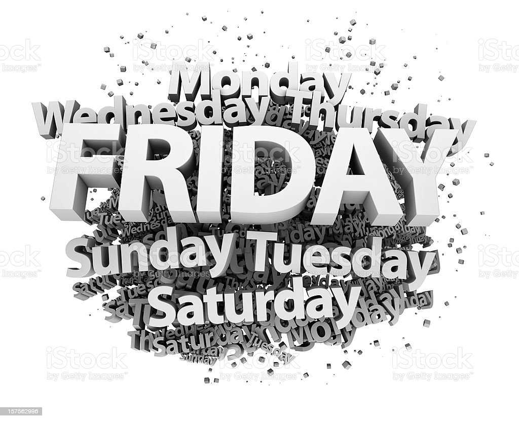 Weekdays concept - Friday royalty-free stock photo