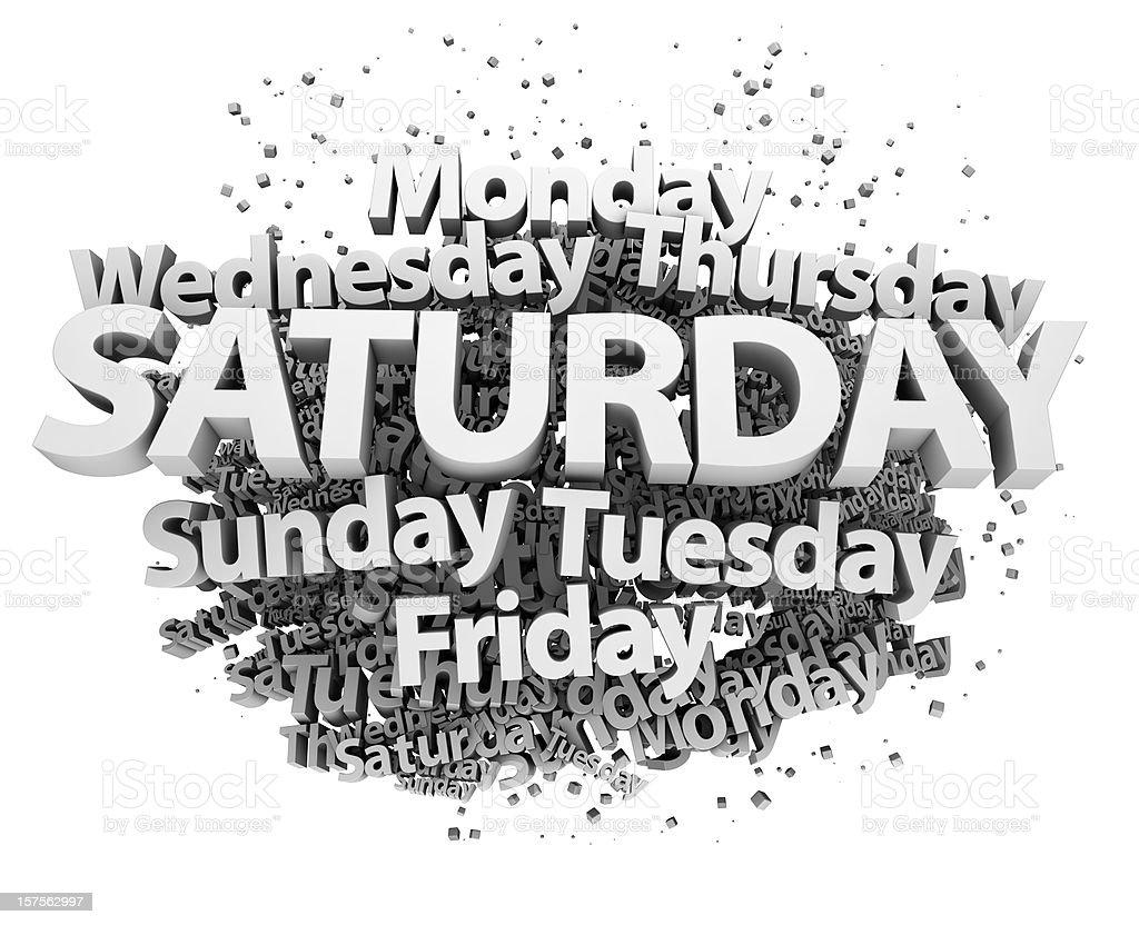 Weekdays concept - Saturday royalty-free stock photo