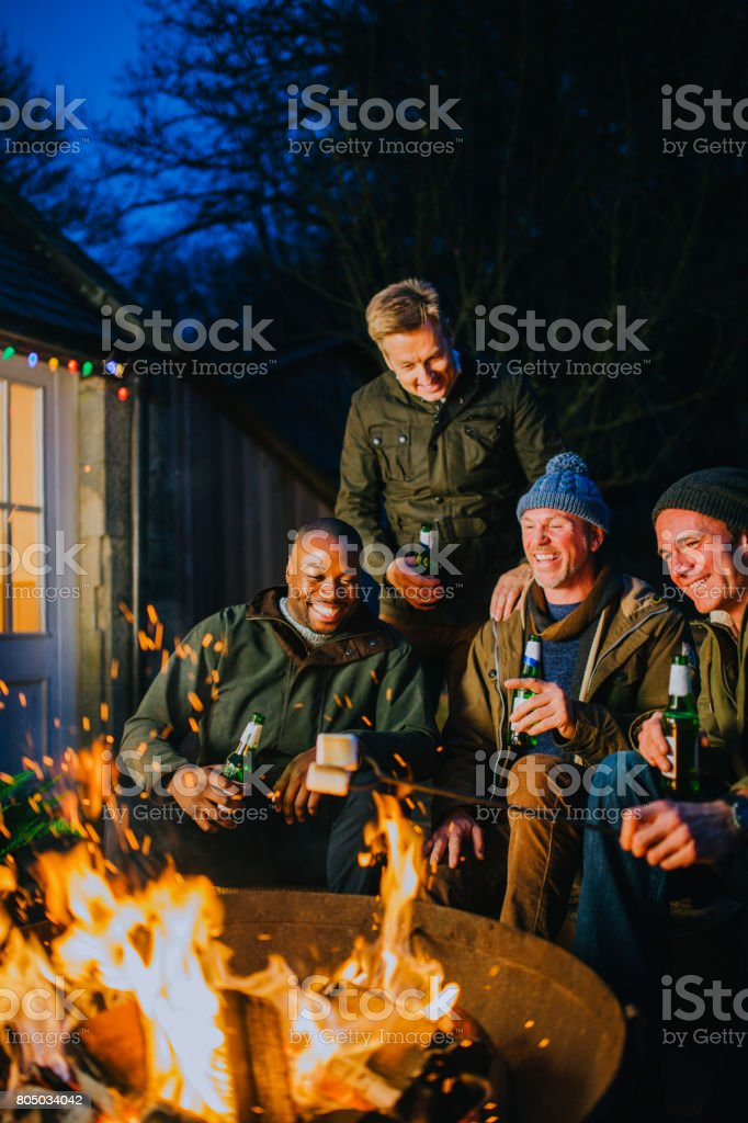 Weekend Away with the Lads stock photo