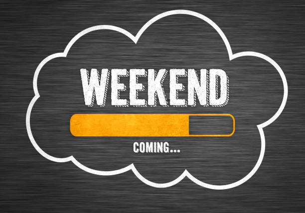 Weekend coming concept stock photo