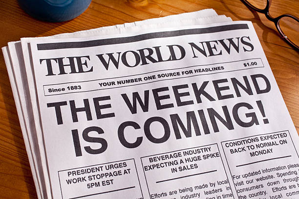 Weekend Headline TGIF stock photo