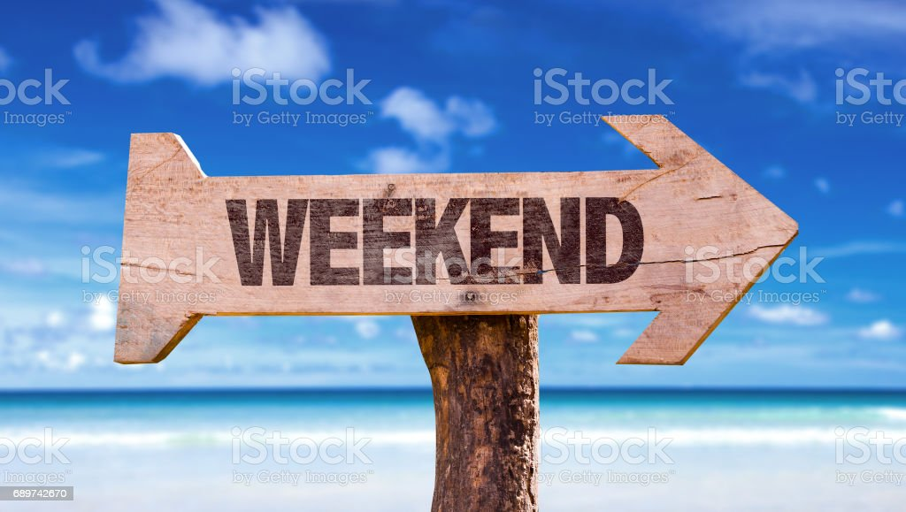 Weekend stock photo