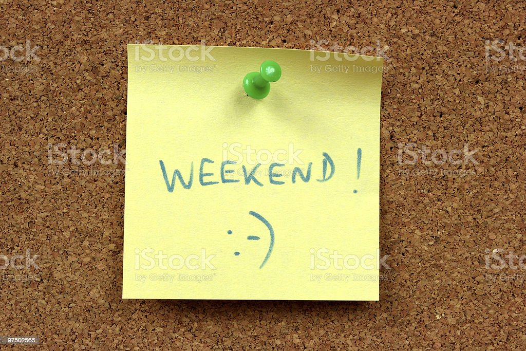 Weekend royalty-free stock photo