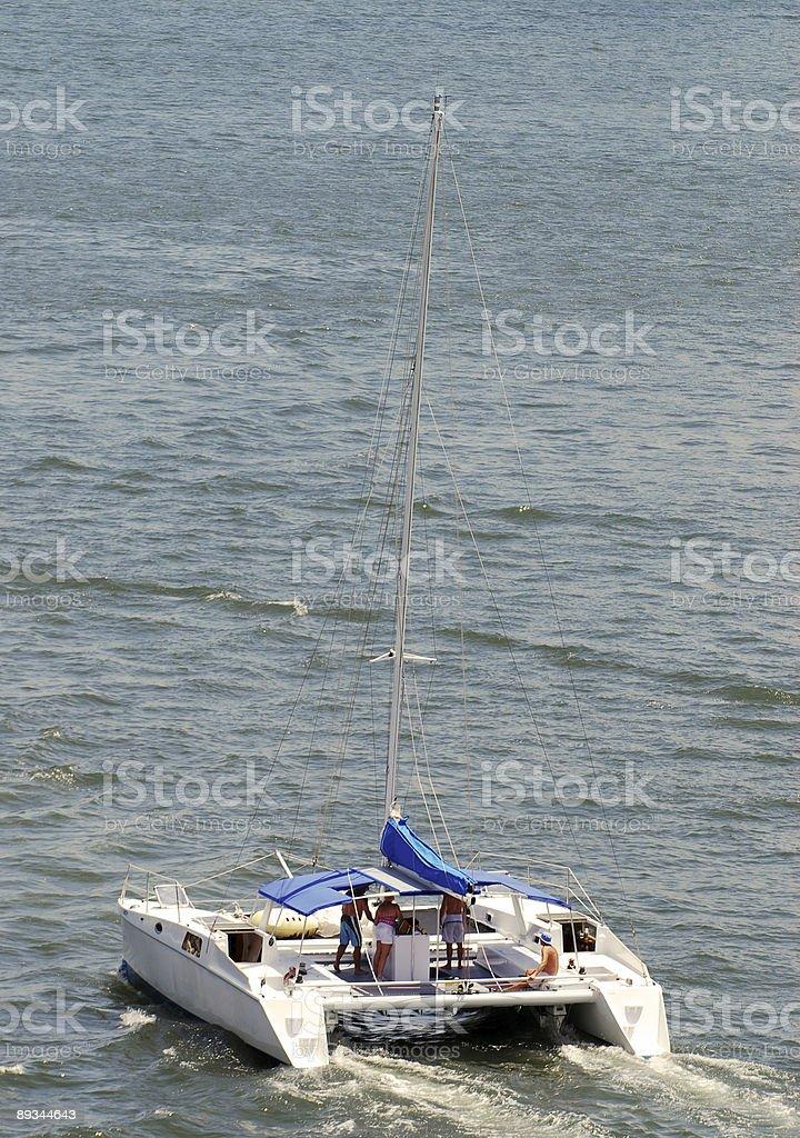 Weekend sailing trip royalty-free stock photo