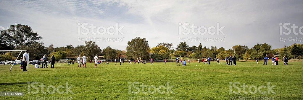 Weekend Soccer Amateurs Goal royalty-free stock photo