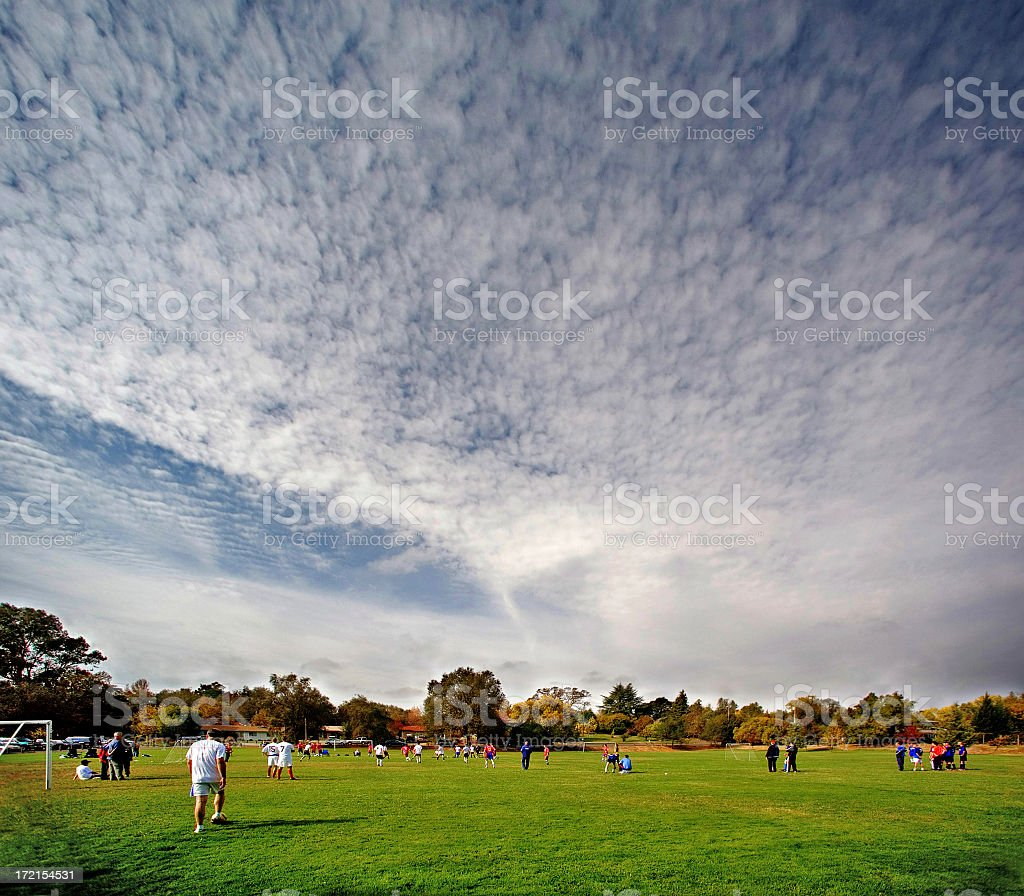 Weekend Soccer Amateurs United royalty-free stock photo