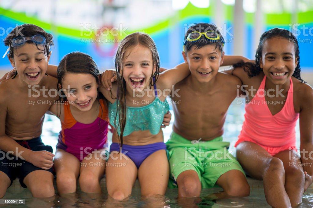 Weekend Swimming Class stock photo
