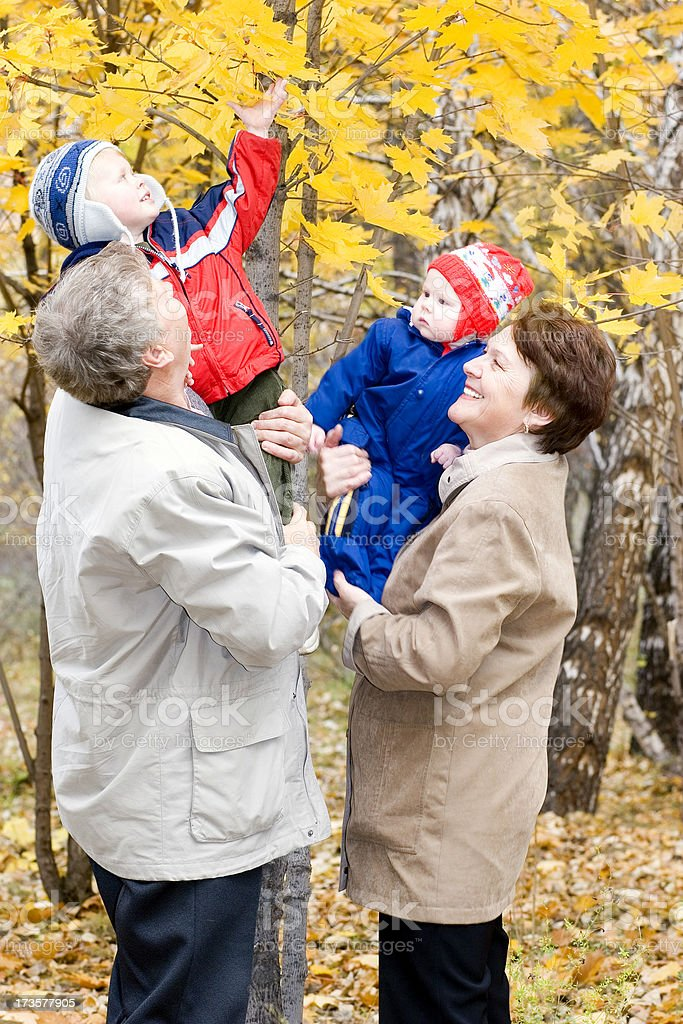 Weekend with grandparents royalty-free stock photo