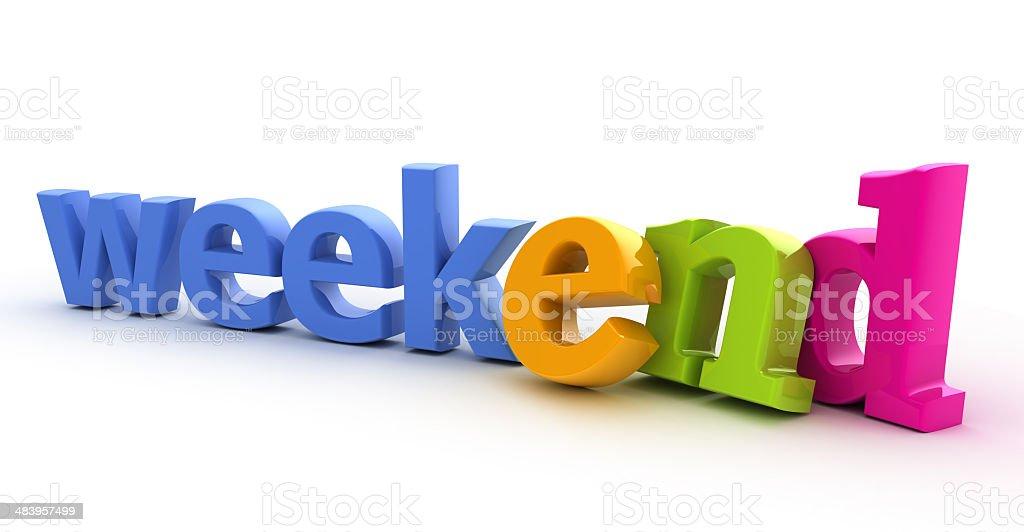 Weekend word. royalty-free stock photo