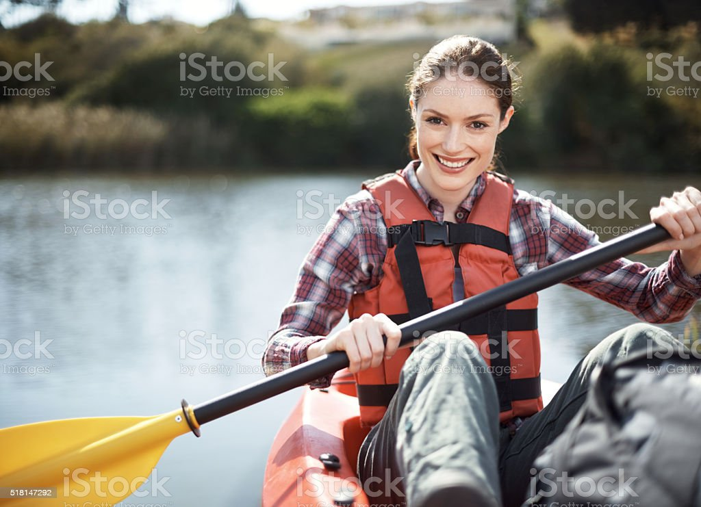 Weekends are all about my kayak! royalty-free stock photo