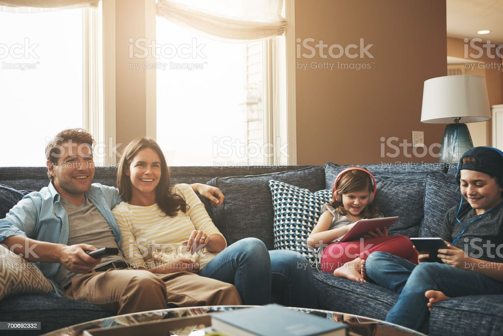 Weekends filled with no worries stock photo