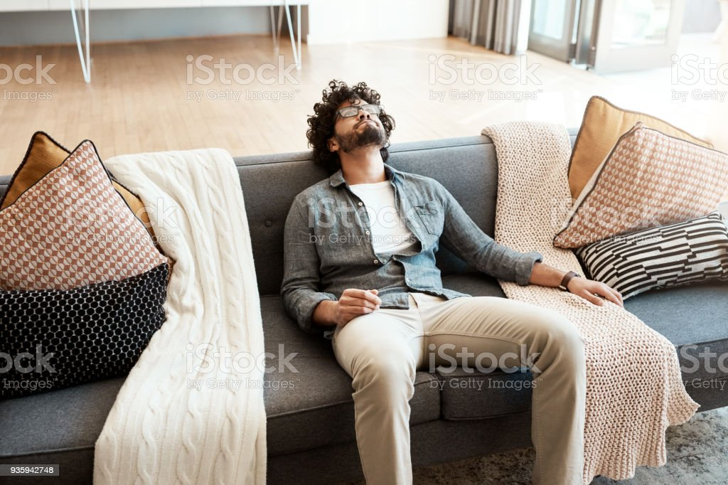 Weekends were made for doing nothing and enjoying it stock photo
