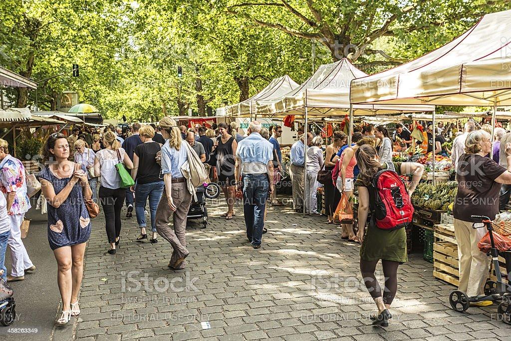 Weekly market / Kollwitzmarkt stock photo