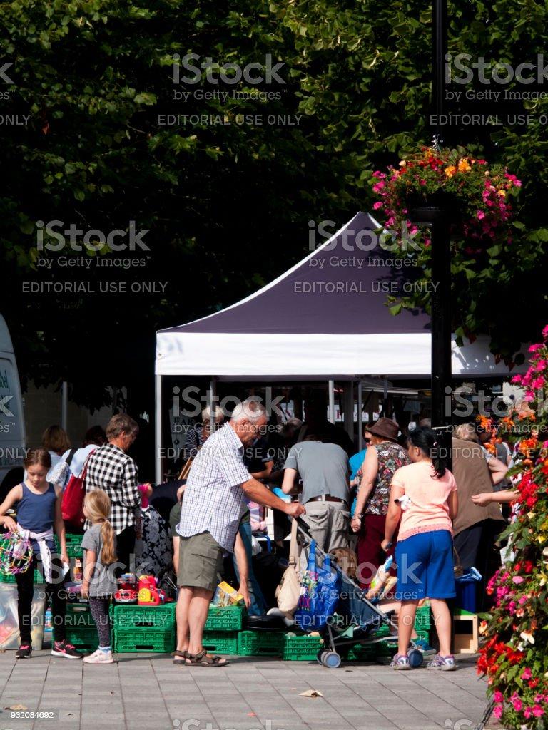 weekly market stock photo