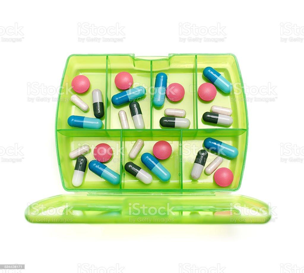 Weekly medicine stock photo