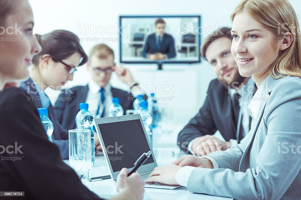 Weekly meeting of the company's management board - foto stock