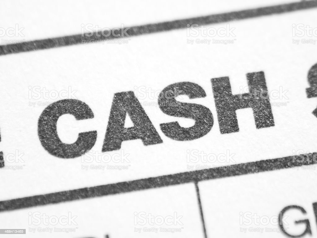 Weekly report form (CASH) stock photo