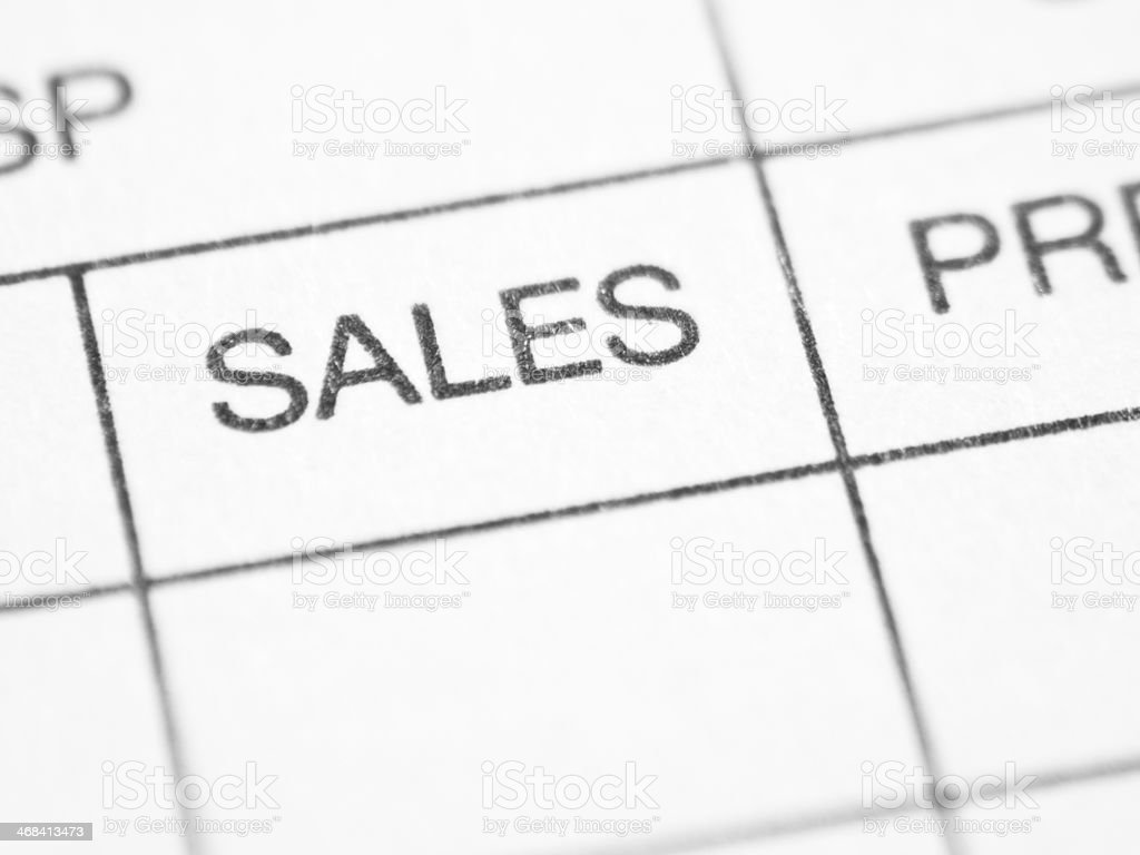 Weekly report form (SALES) stock photo