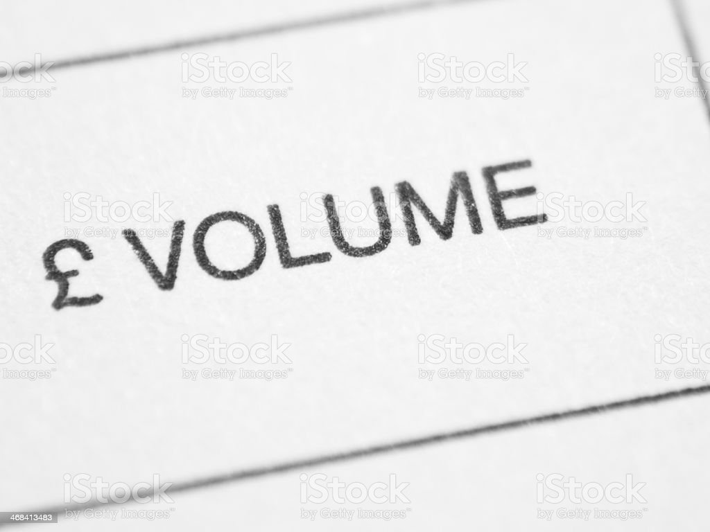 Weekly report form (Ł VOLUME) stock photo