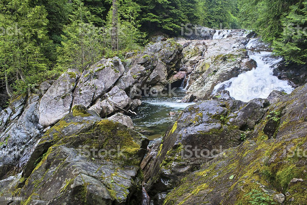 Weeks Falls on the Snoqualmie River stock photo