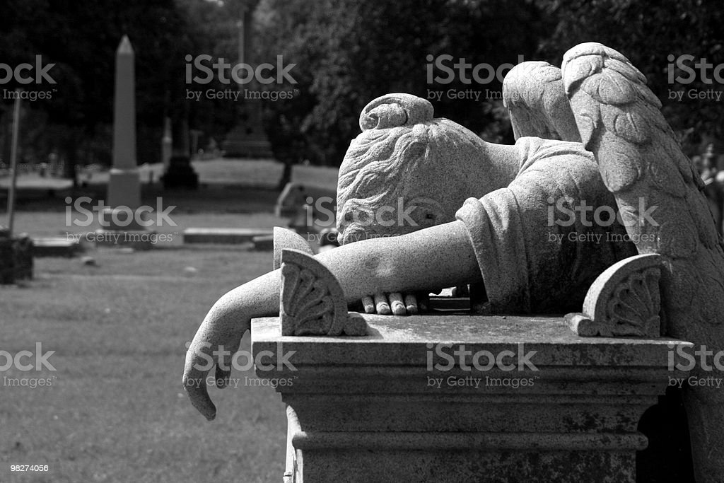 Weeping angel royalty-free stock photo