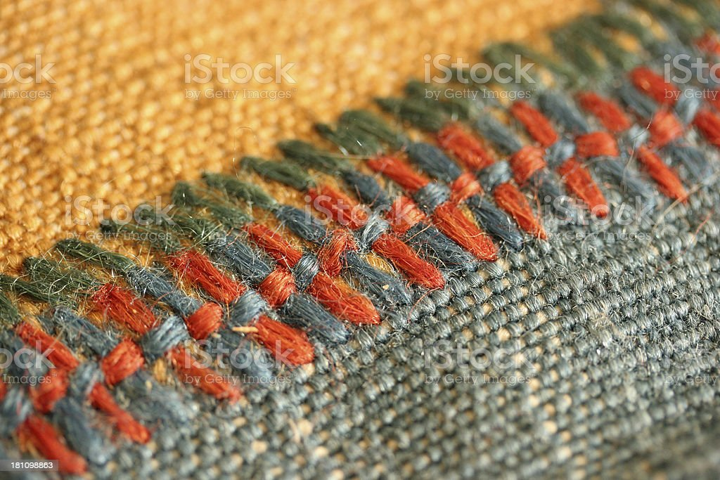 weft seam macro royalty-free stock photo