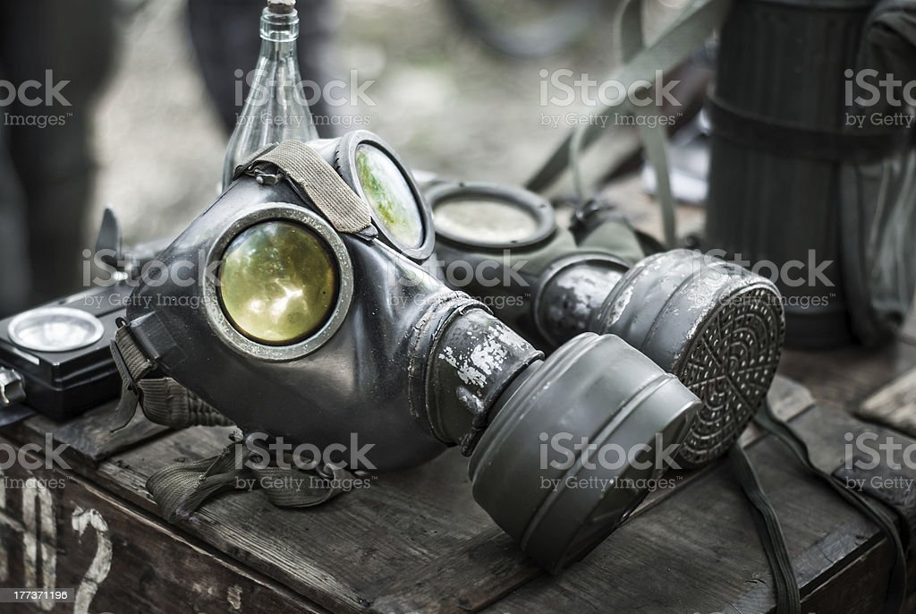 Wehrmacht gas mask royalty-free stock photo