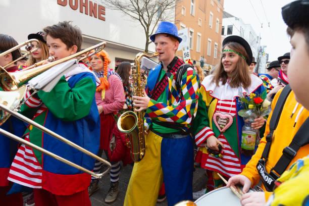Weiberfastnacht: celebrating carnival in Bonn, Germany stock photo