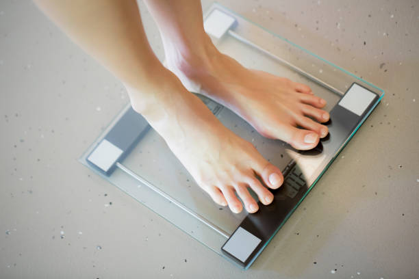 Weigh scale stock photo