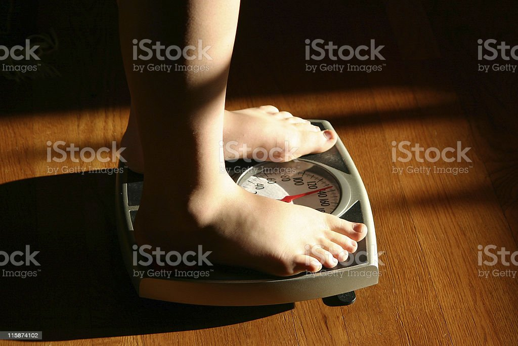 Weighing In stock photo