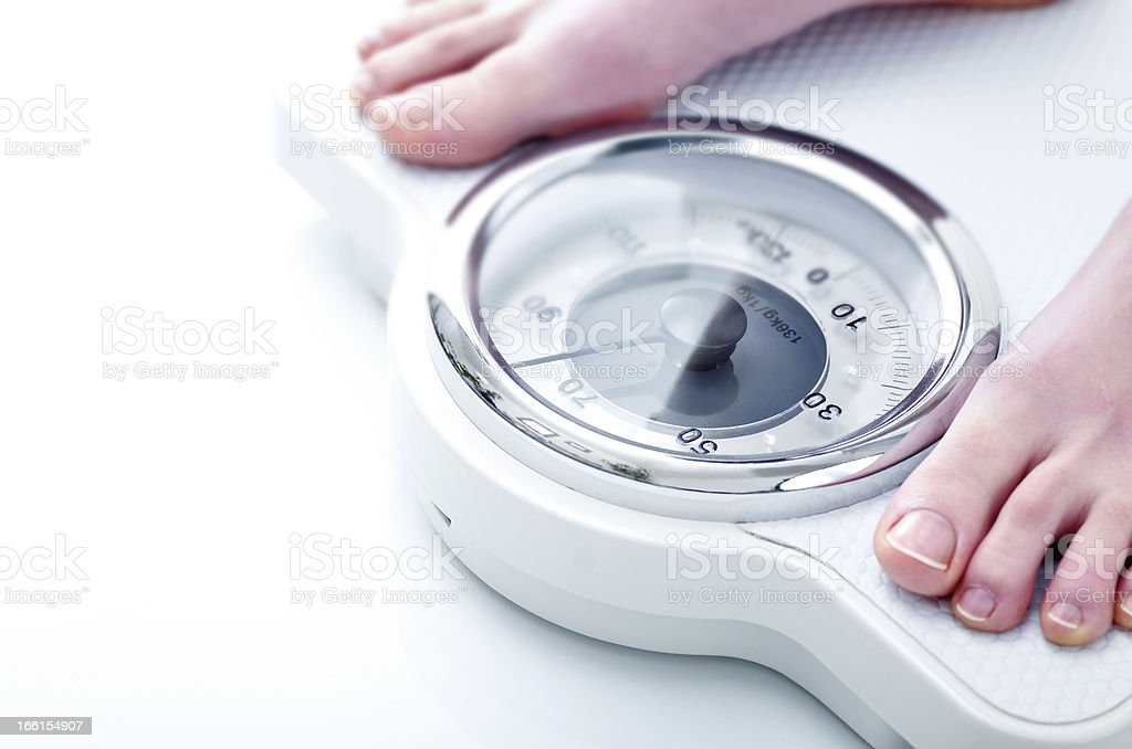 Weighing stock photo