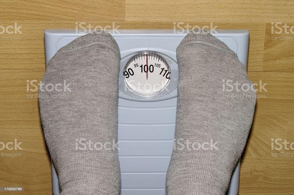 Weighing royalty-free stock photo