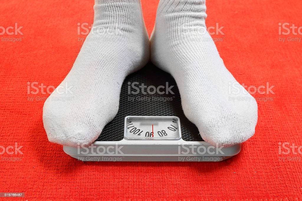 Weighing. stock photo