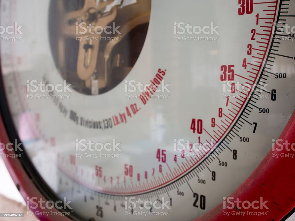 Weighing Scales for Shipping & Postal Services stock photo