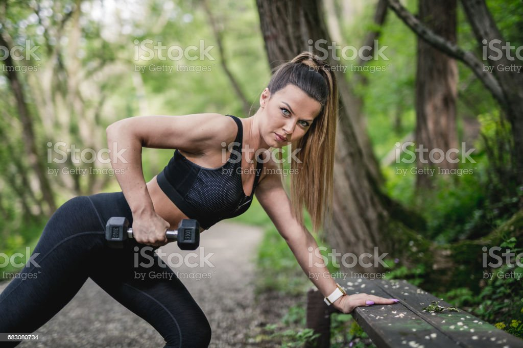 Weight exercise foto de stock royalty-free